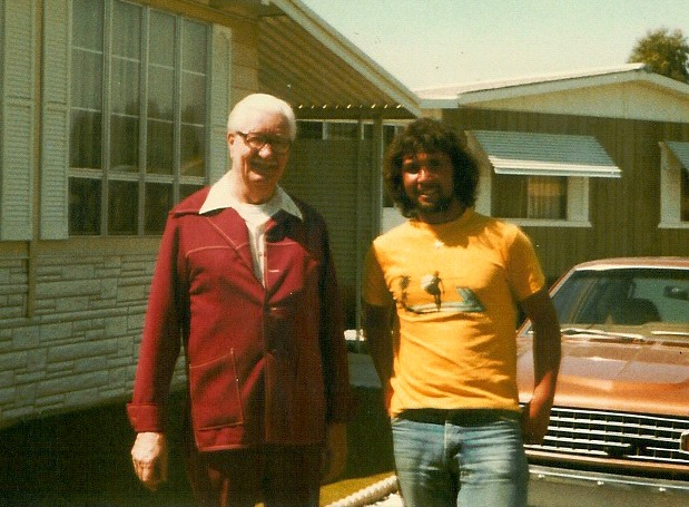 Mr. Carl Barks and Me in front of his home, 1980